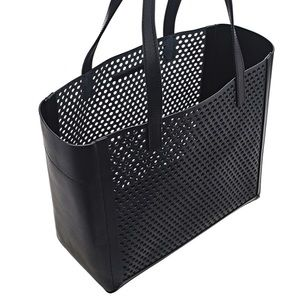 LOEFFLER RANDALL perforated leather tote